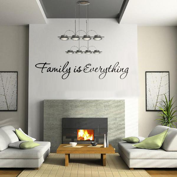DIY Familjen är allt avtagbart heminredning Art Vinyl Quote Wall Sticker