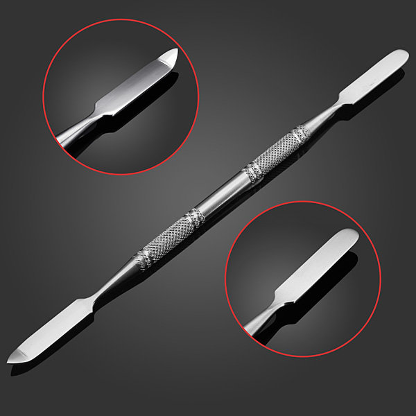 Stainless Steel Nail Cuticle Pusher Spoon Remover Embossing Tool