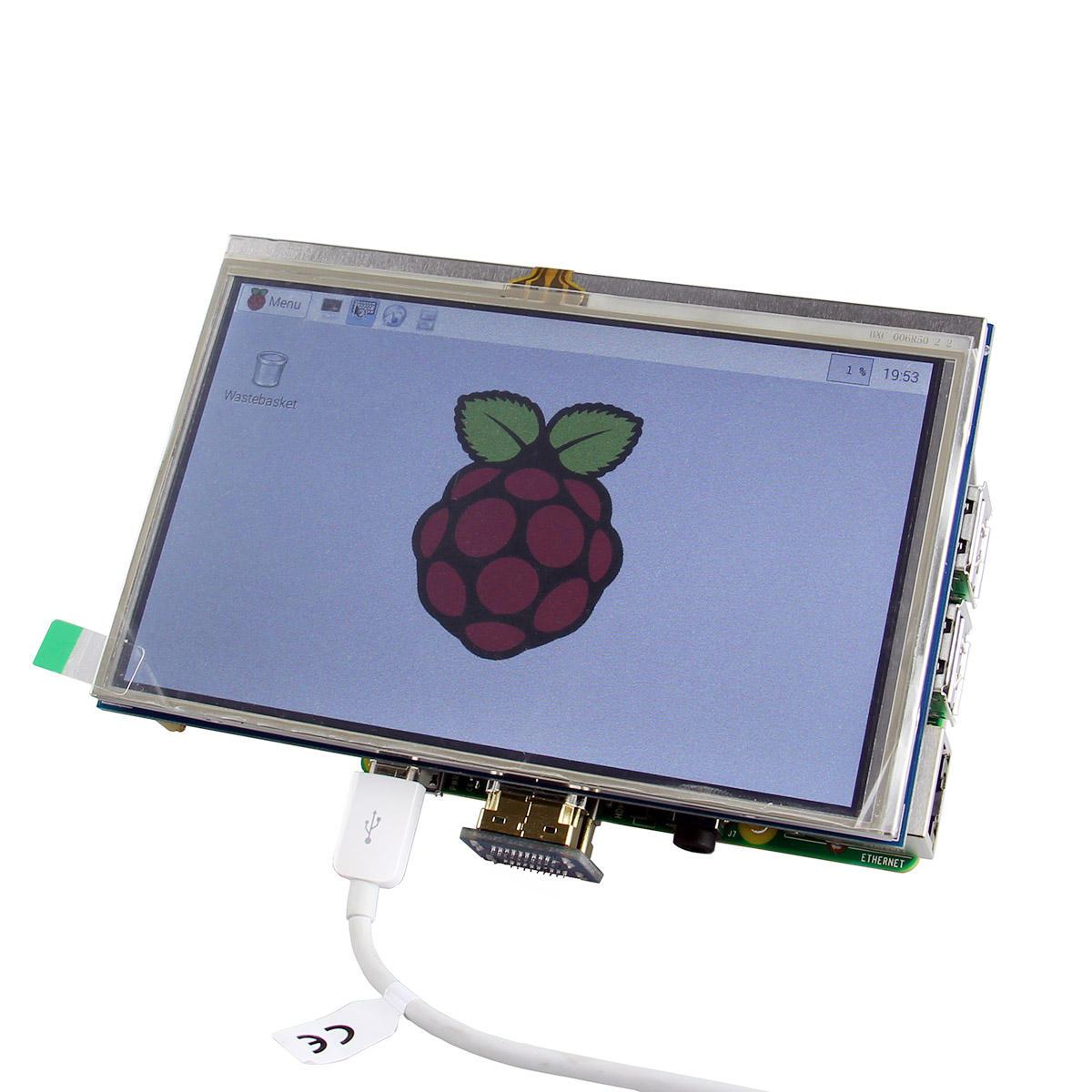 5 Inch HD TFT LCD Touch Screen For Raspberry PI 2 Model B / B+ / A+ / B
