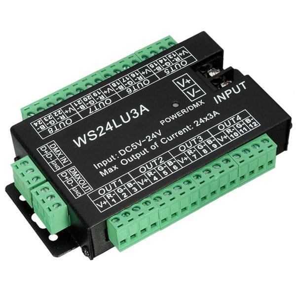 24 Channel 3A/CH DMX512 Controller Led Decoder Dimmer Controller