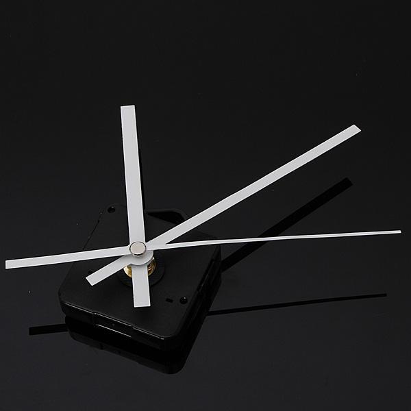 DIY White Hands Quartz Movement Mechanism Wall Clock