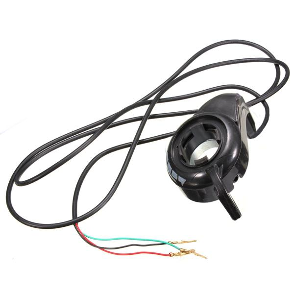 7/8in 24V Thumb Throttle Speed Control E-Bike Electric Bike Scooter 3 Wires