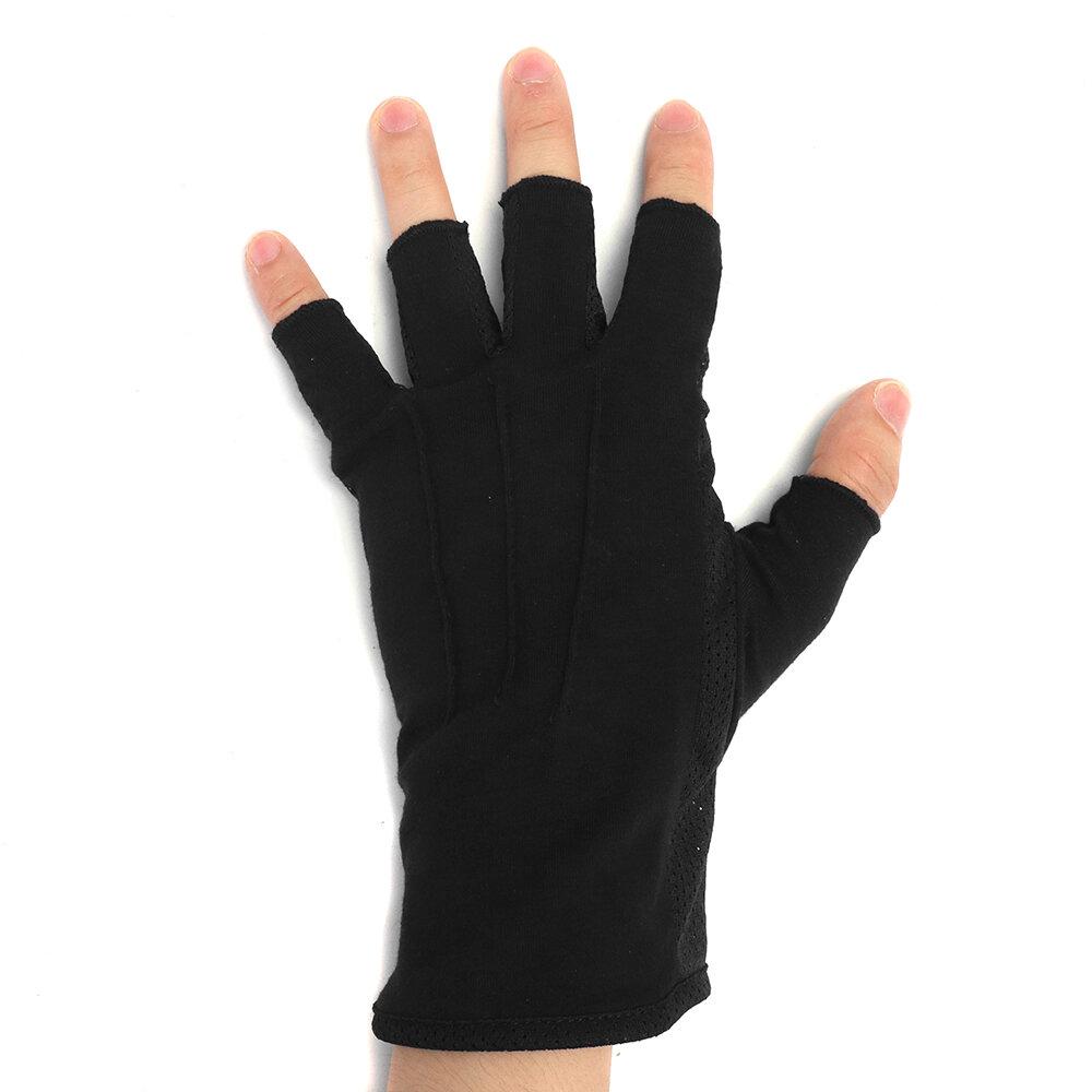 Spring Summer Cotton Motorcycle gloves half finger Sunscreen Anti-slip Gloves