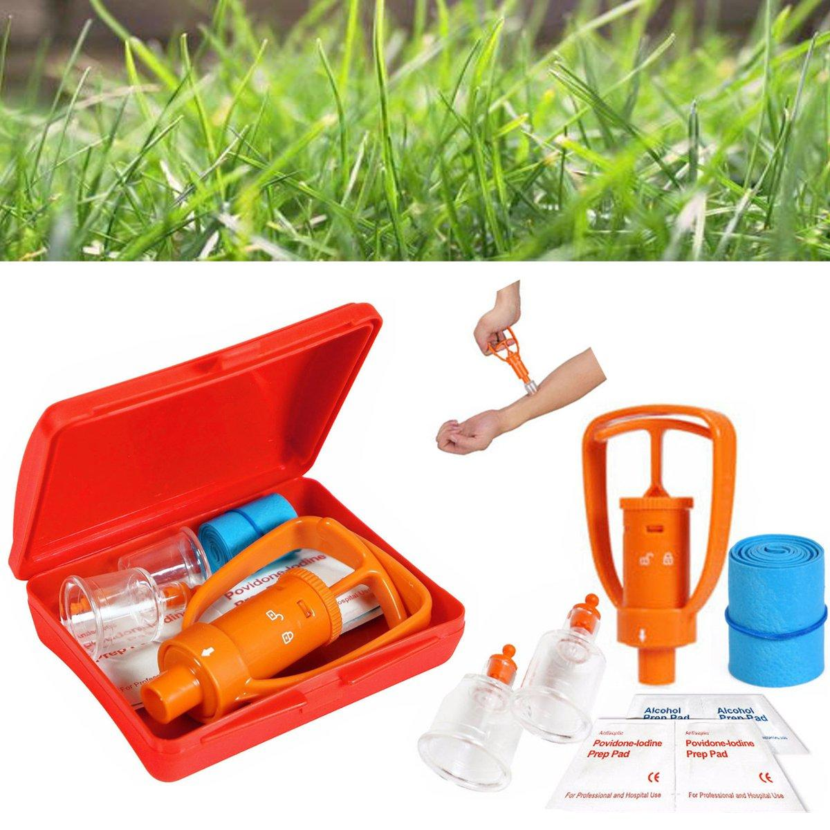 IPRee® Venom Extractor Pump First Aid Safety Kit Emergency Snake Bite  Survival Tool SOS