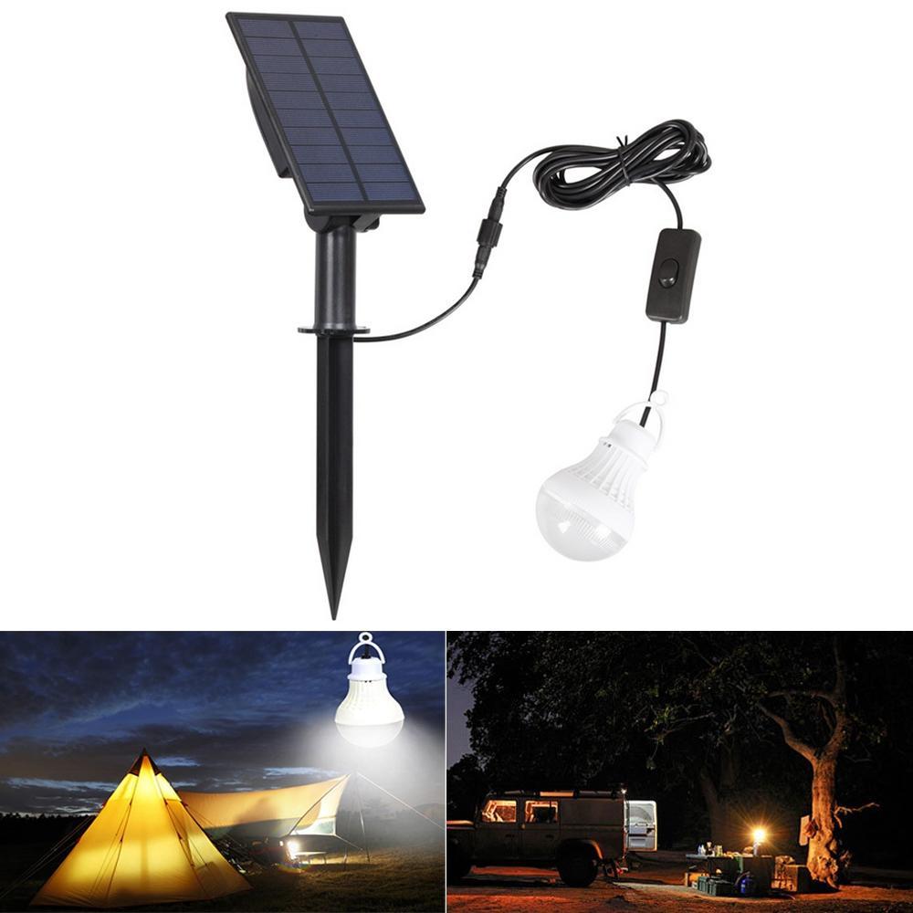 المحمولة الشمسية لوحة القوة LED لمبة ضد للماء ضوء المستشعر التخييم خيمة الصيد مصباح الطوارئ