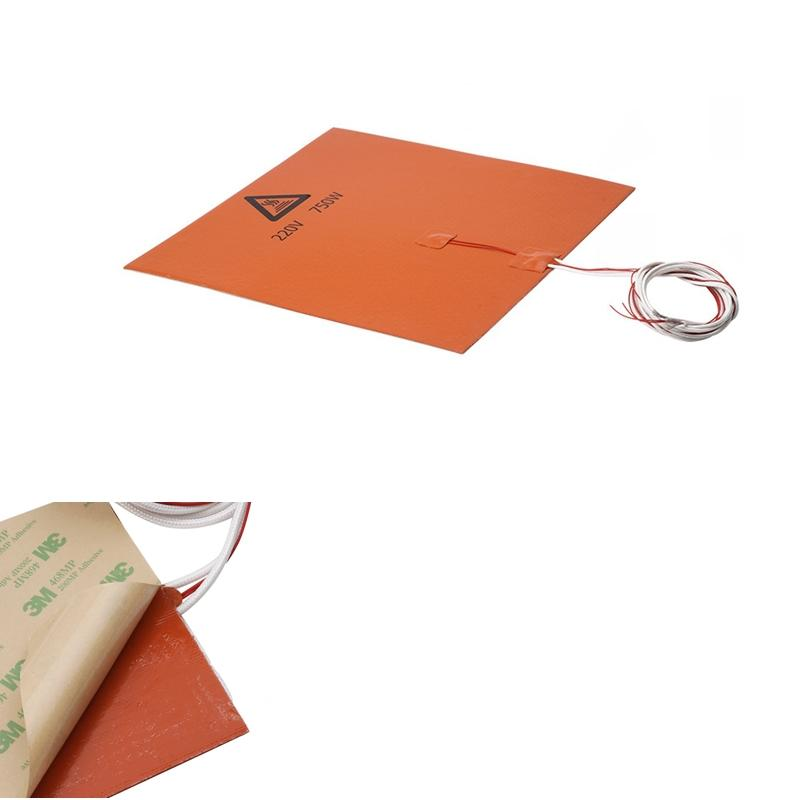 300x300mm 220V 750W Silicone Heated Bed Heating Pad For Creality CR-10 3D Printer