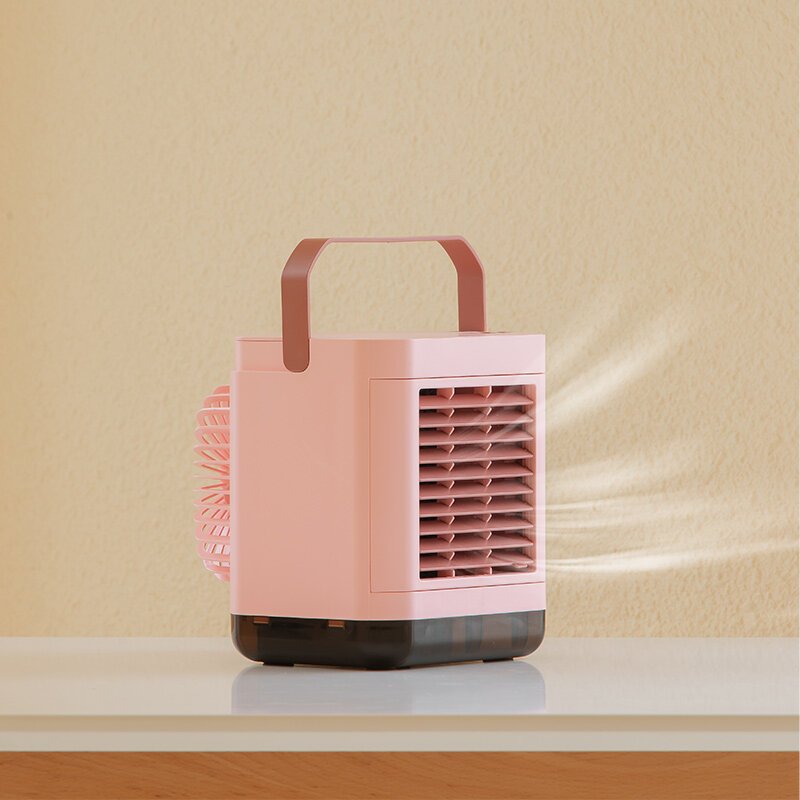 4W Desktop Negative Ion Air-conditioning Fan 3 Gear Portable Air Cooler Air Purification LED Display 2000mAh Batery Life