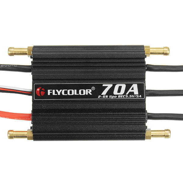 5A  2-6s BEC For RC Boat FlyColor Waterproof Brushless 70A ESC With 5.5V