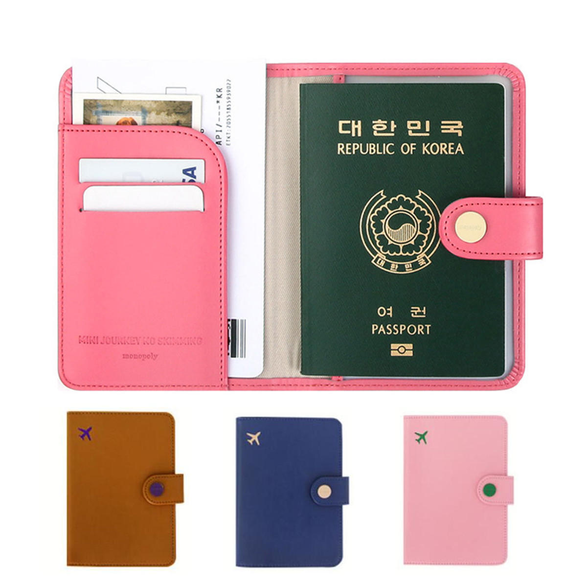 22f7f3e7a383 RFID Blocking Passport Holder Wallet Travel Card Case Organizer Cover  Protector
