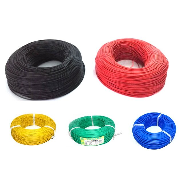 10m Soft Silicone Wire 22AWG Heatproof OD 1.7mm Flexible Cable Black/White/Red/Green/Blue RC Model