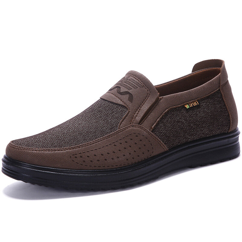 Hombres Soft Respirable Casual Business Slip On Oxfords
