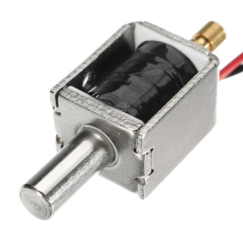 12V DC 0.43A Mini Electric Bolt Lock Push Pull Cylindrical Solenoid Lock 5mm Stroke