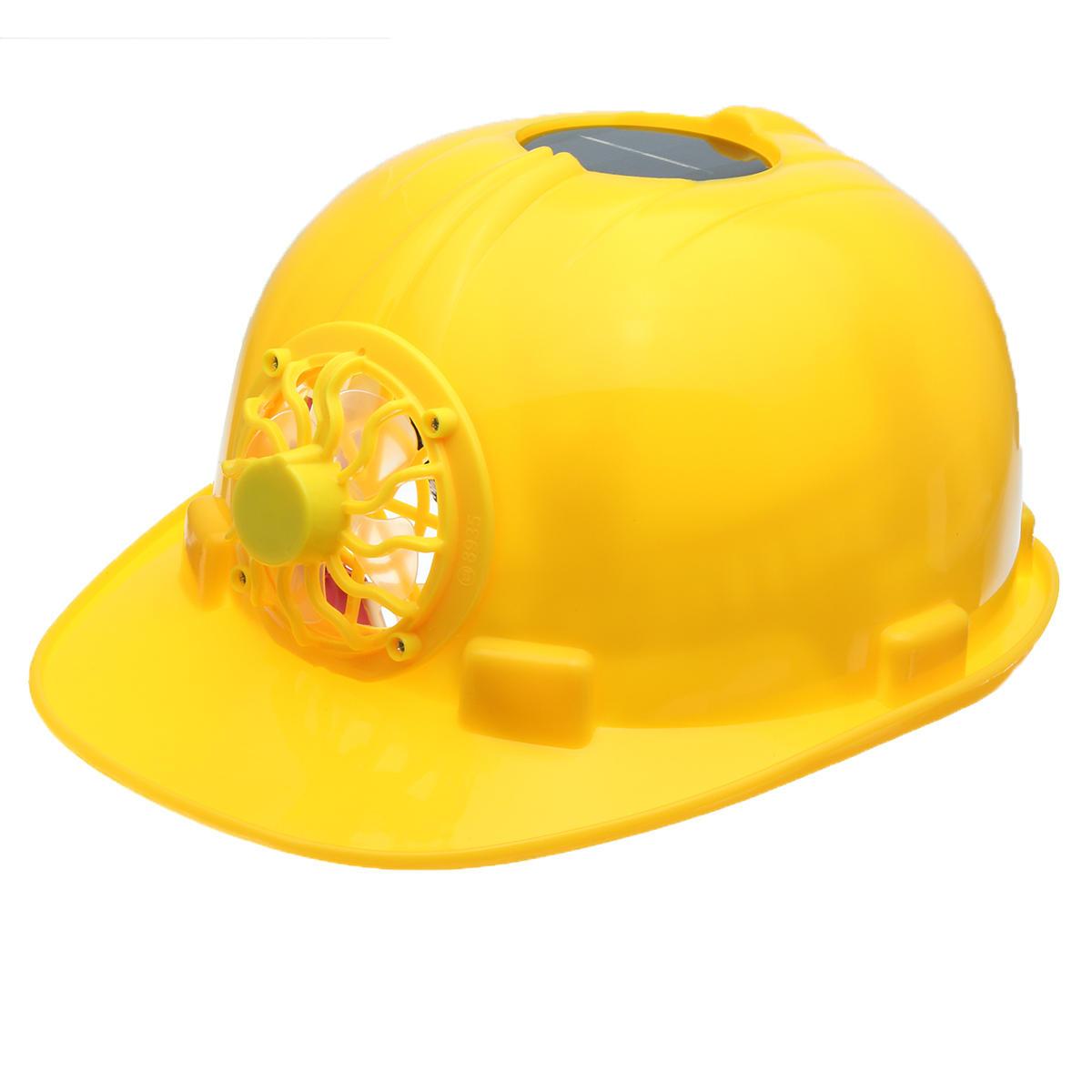 Amarillo Solar Fuerza Casco de seguridad Trabajo duro Sombrero Solar Ventilador de panel