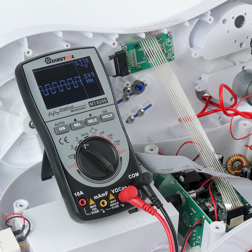 DC MUSTOOL MT8206 2 in 1 Intelligent Digital Oscilloscopio multimetro AC