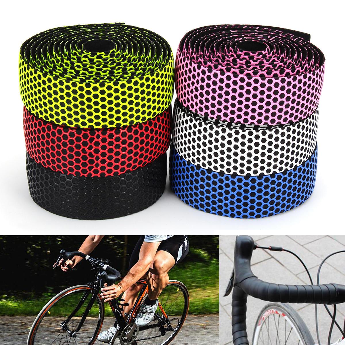 BIKIGHTハンドルバーテープ自転車ロードバイクスポーツコルクグリップラップリボンテープバープラグ
