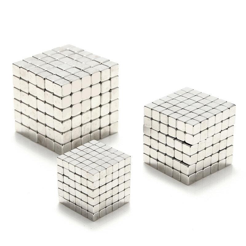3/4 / 5mm 216 adet Manyetik Oyuncaklar Cube Mıknatıs Toplar Magic Kare 3D Bulmaca Topu Küre Hediye Dekor Ile Kutu