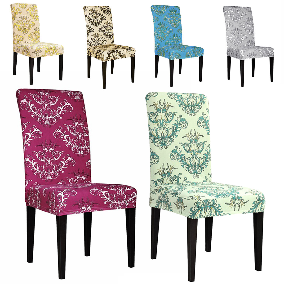 Dining Room Chair Covers Slipcovers Stretch Wedding Banquet Seat Cover Removable