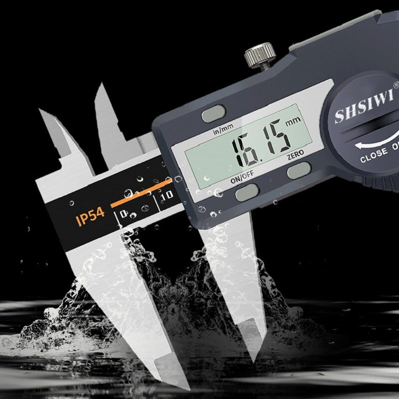 0-150/200/300mm Digital Caliper Vernier Caliper Stainless Steel Electronic Caliper Measuring Tool IP54 Waterproof