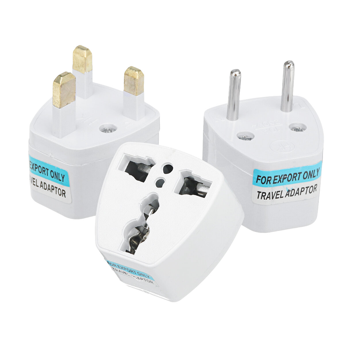 10A 250V Travel Universal Power Outlet Adapter UK/US/EU to Universal Plug Socket Converter