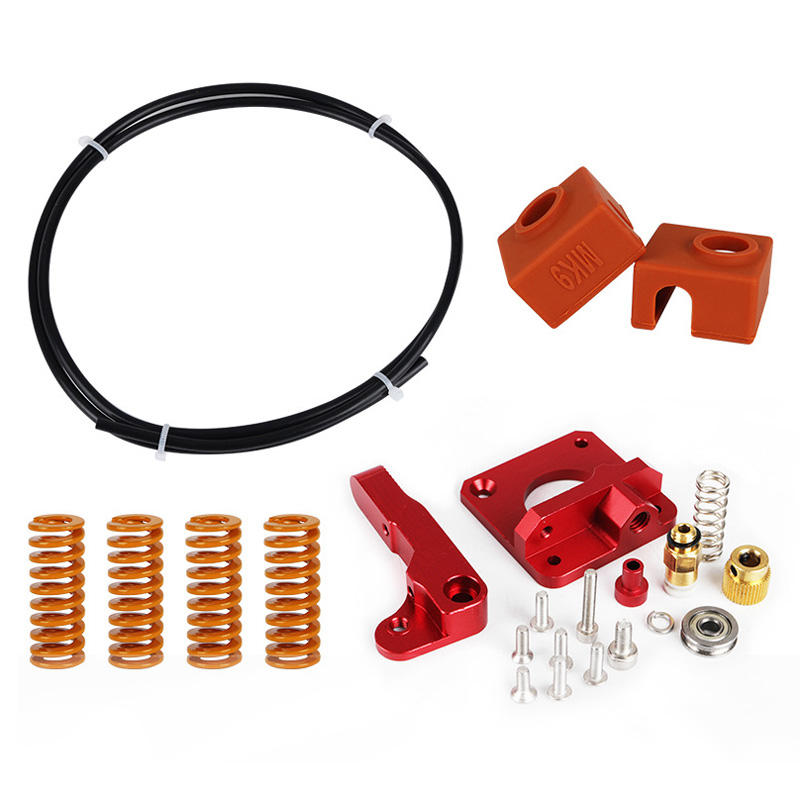 Upgraded Long-Distance Remote Metal Extruder+Leveling Spring+PETG Tube+MK10 Silicone Case Kit For Creality CR-10 Ender-3 3D Printer