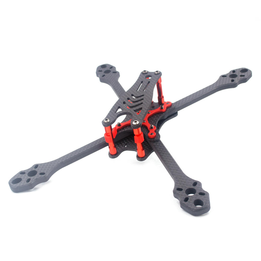 ALFA Monster 6mm Carbon Fiber 5/6/7inch FPV Freestyle Stretch X Quadcopter Frame Kit for RC Drone, Topacc  - buy with discount