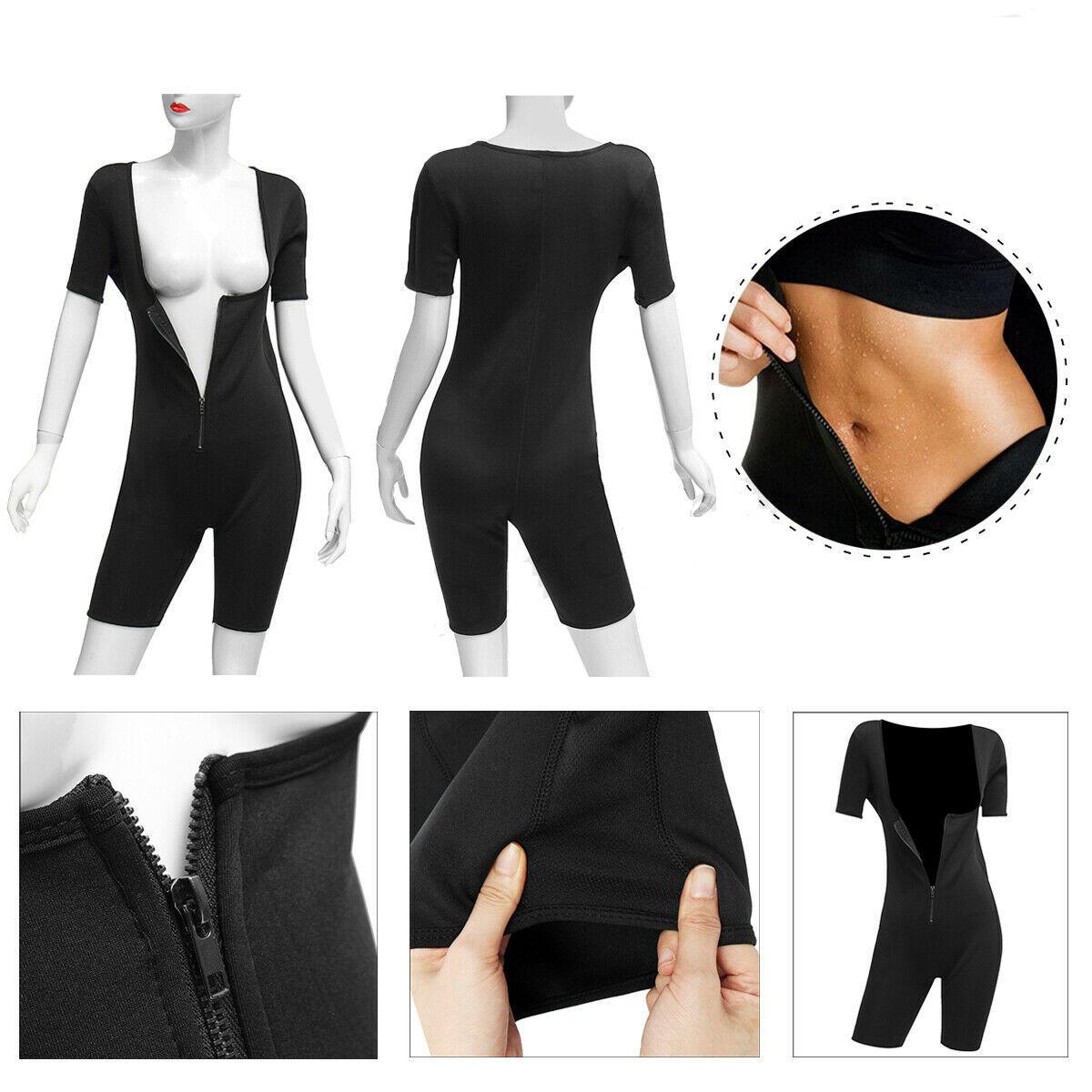 Womens Shapewear Full Body Sweat Shaper Slimming Fitness Gym Sport Sauna Suit Vest