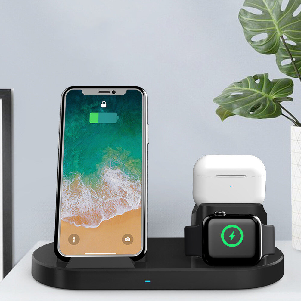 Bakeey 15W 3-in-1 Wireless Charger Magnetic Fast Charging Station For iPhone 12 XS 11Pro Mi10 S20+ Note 20 Huawei Mate 3