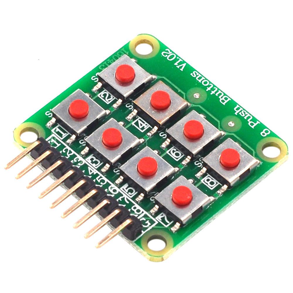 20pcs Micro Switch 2x4 Matrix Клавиатура 8 бит Клавиатура Внешний модуль Клавиатура платы расширения 5594697 для Arduino фото
