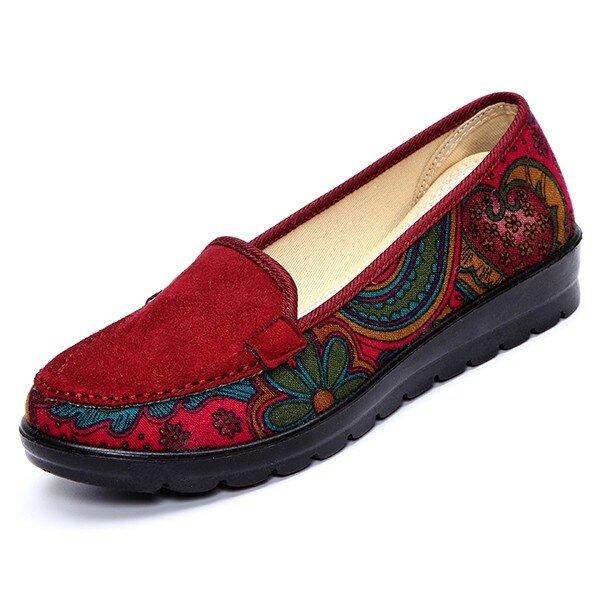 גדול נשים מקרית נעלי מקרית Slip-on Breathable Shoes Soft Sole Shoes