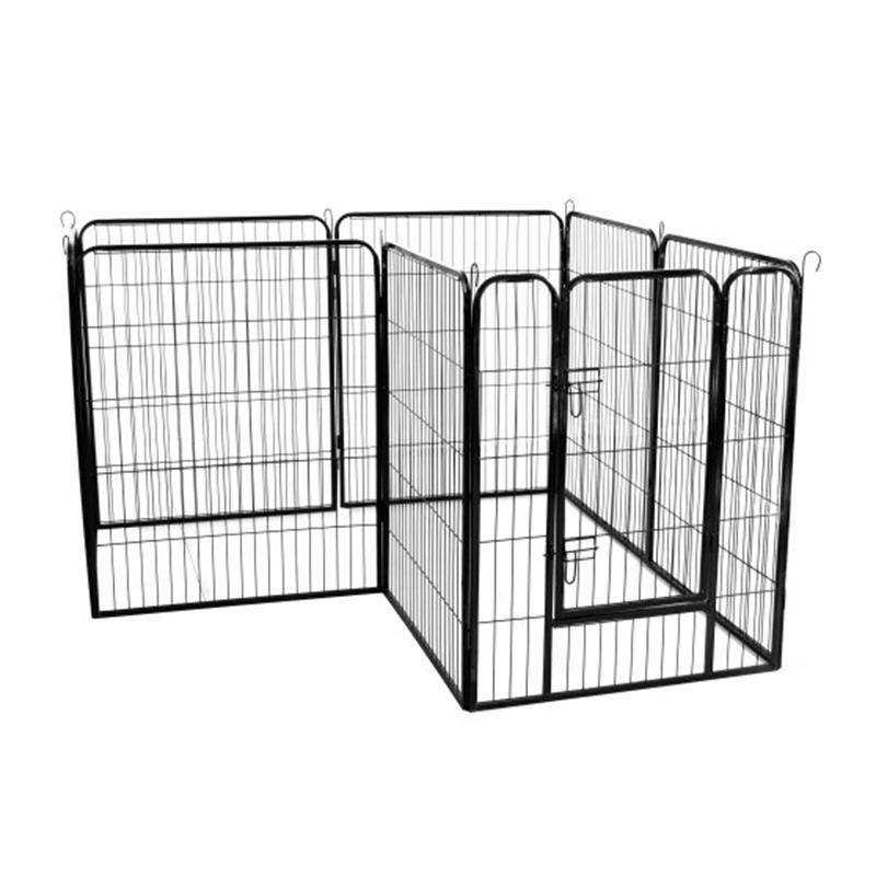 High Quality Wholesale Cheap Best Large Indoor Metal Puppy Dog Run Fence Iron Pet Dog Door Playpen