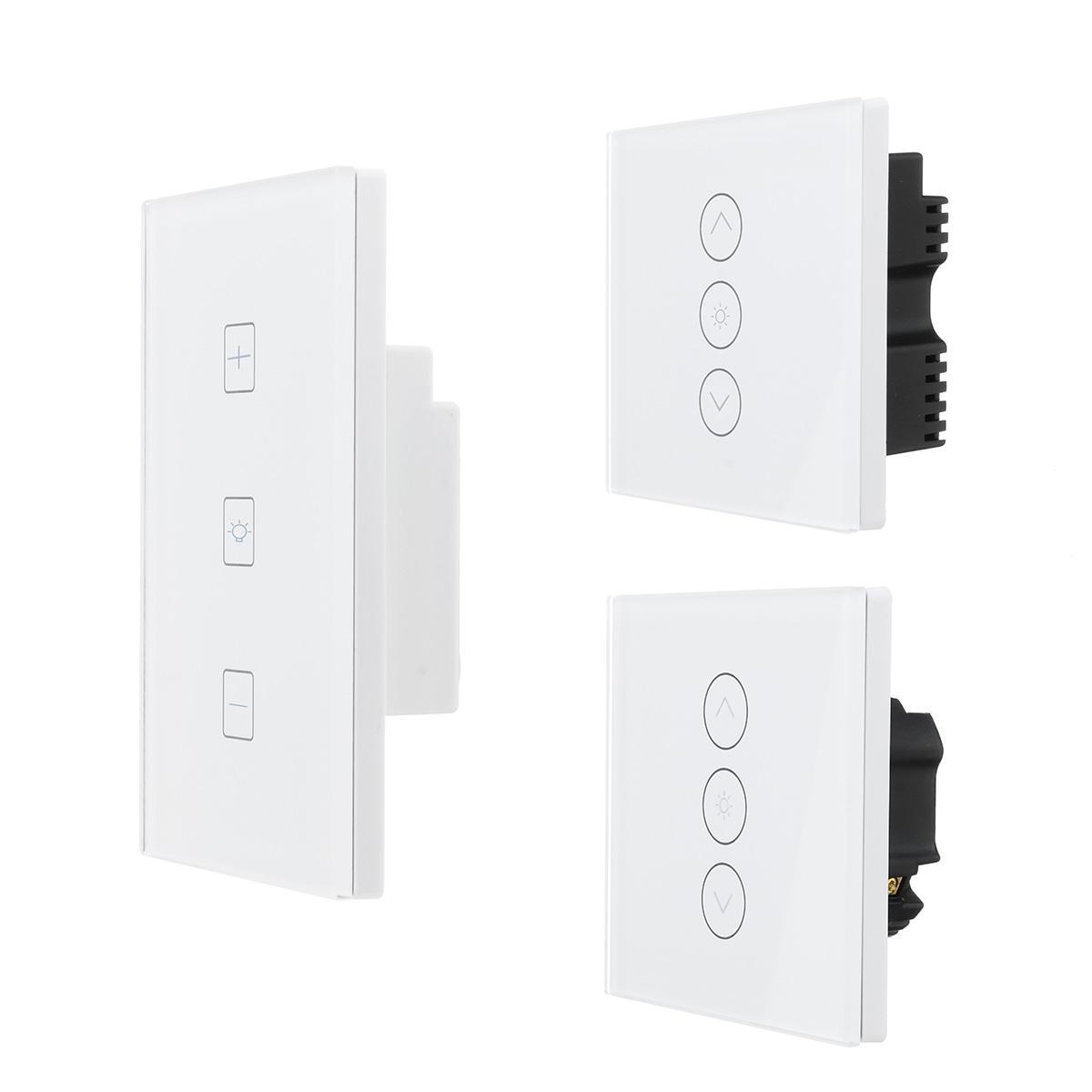 WIFI Smart Dimmer Light Wall Switch Sentuh Remote Control Bekerja dengan Alexa / Google Home