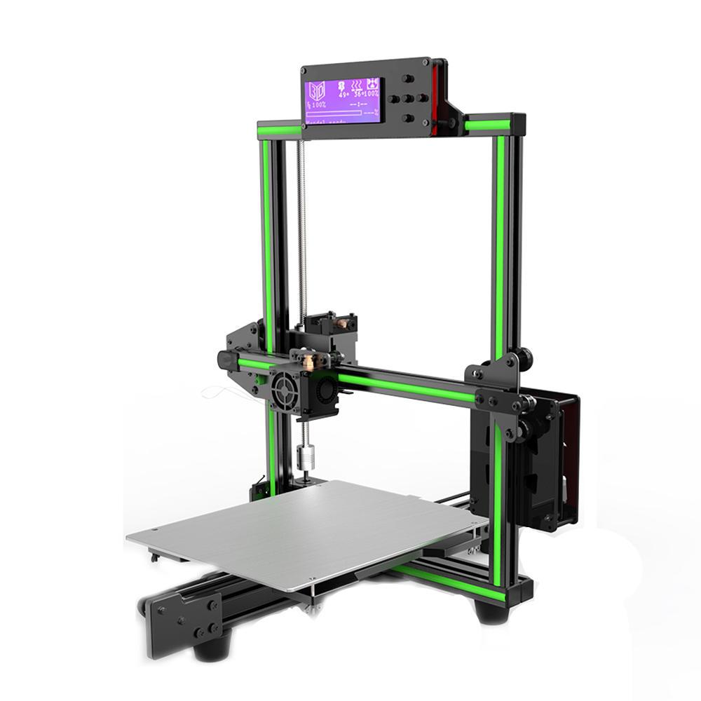 Anet® E2 DIY Alüminyum Alaşımlı Çerçeve 3D Yazıcı Kit Düşük Gürültü 220 * 270 * 220mm Baskı Boyutu Desteği Soft Filament Büyük LCD Ekranlı Yazdırma