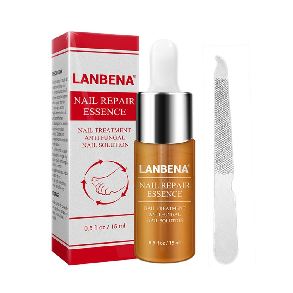 LANBENA Nail Repair Essence Nail File Set Nail Treatment Liquid Nail File Brighten Nail Nail Care Liquid Essence