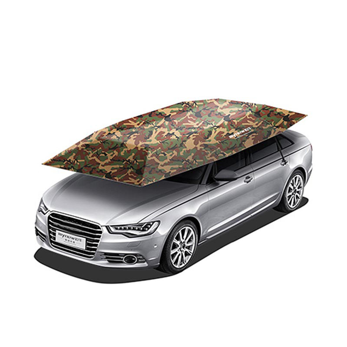 Portable Semi Auto Outdoor Car Umbrella Sunshade Roof Cover Tent Protection