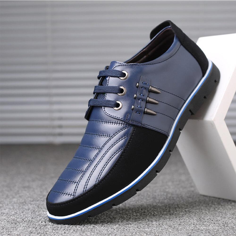 Big Size Men Microfiber Business Soft Oxfords Leather Shoes