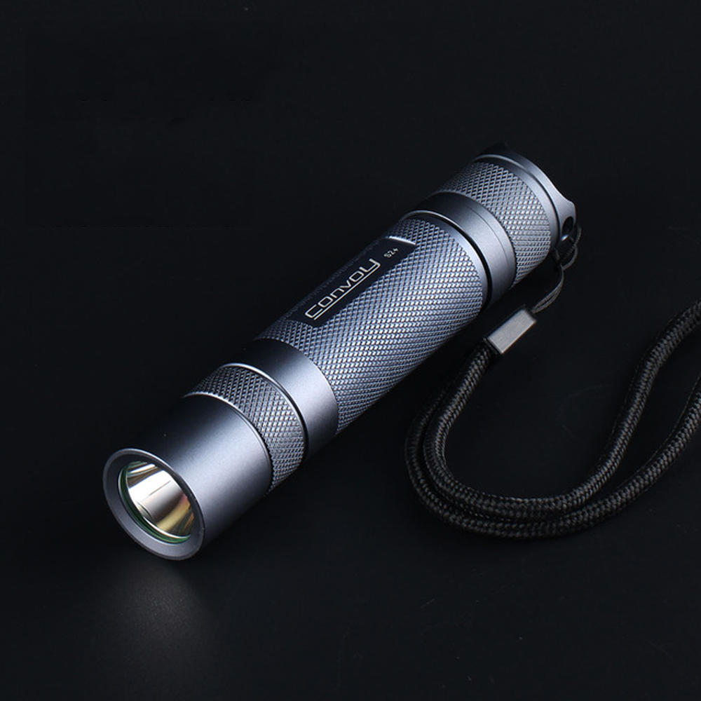 Convoy S2+ Nichia 219C 4000K 5700K 7135*4 1400mAh Driver 12 Groups Mode 18650 LED Flashlight