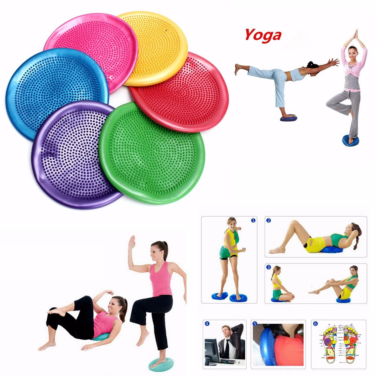 Yoga Exercise Pilates Trigger Massage Balance Cushion Gym Fitness Ball Thickening Riot фото