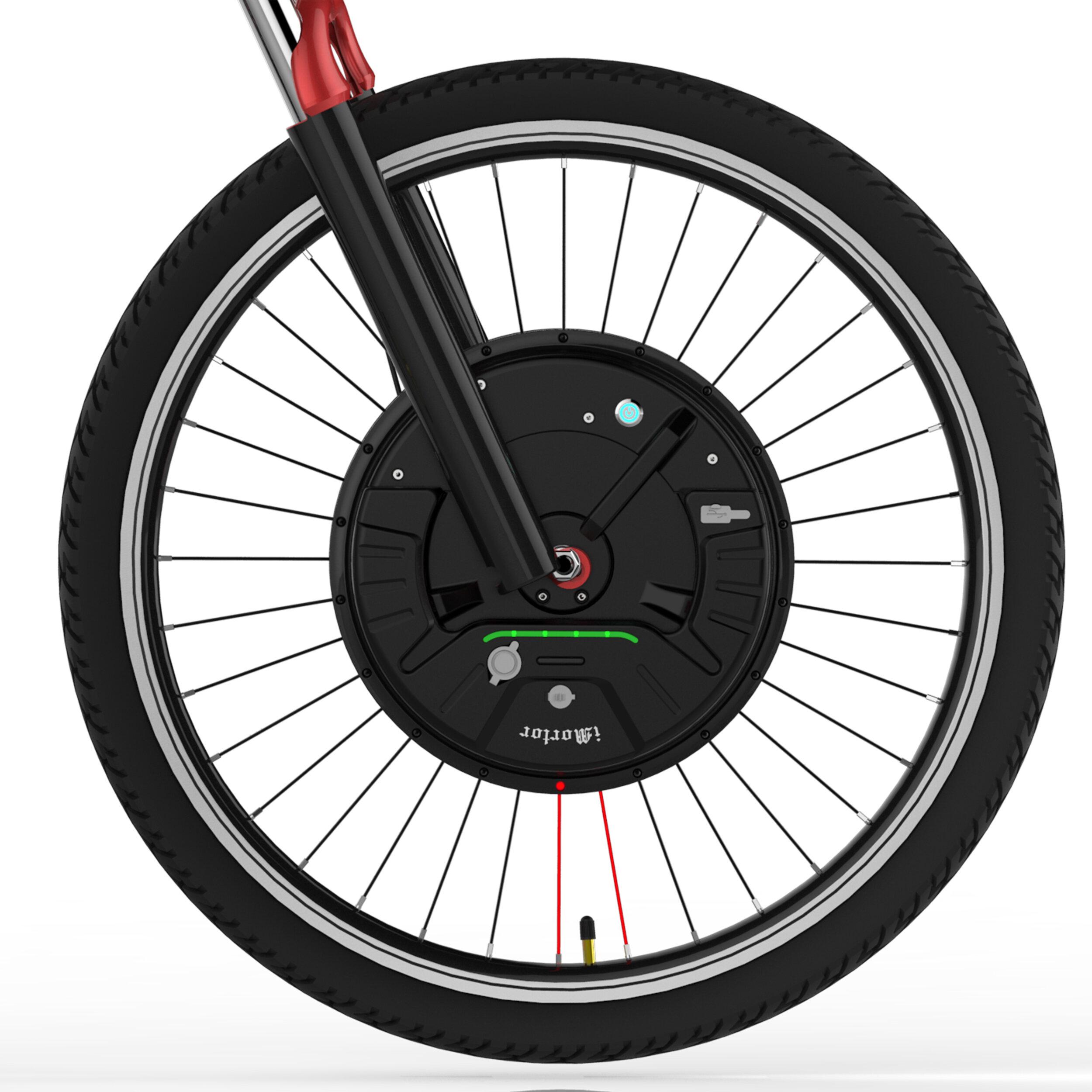 iMortor 3.0 Full Wireless 26in/700C 350W 24V Brushless Motor Intelligence Bicycle Front Wheel