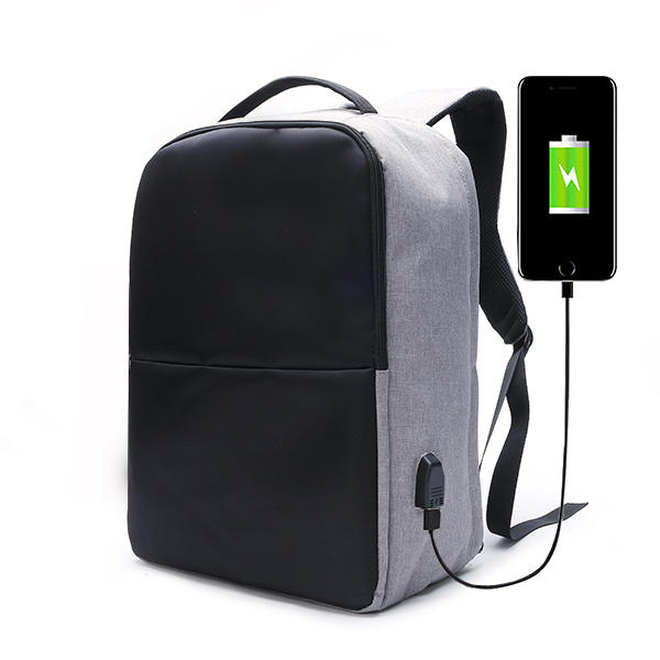 Ekphero Men Anti Theft Backpack Waterproof Travel Bag With USB Charging Port