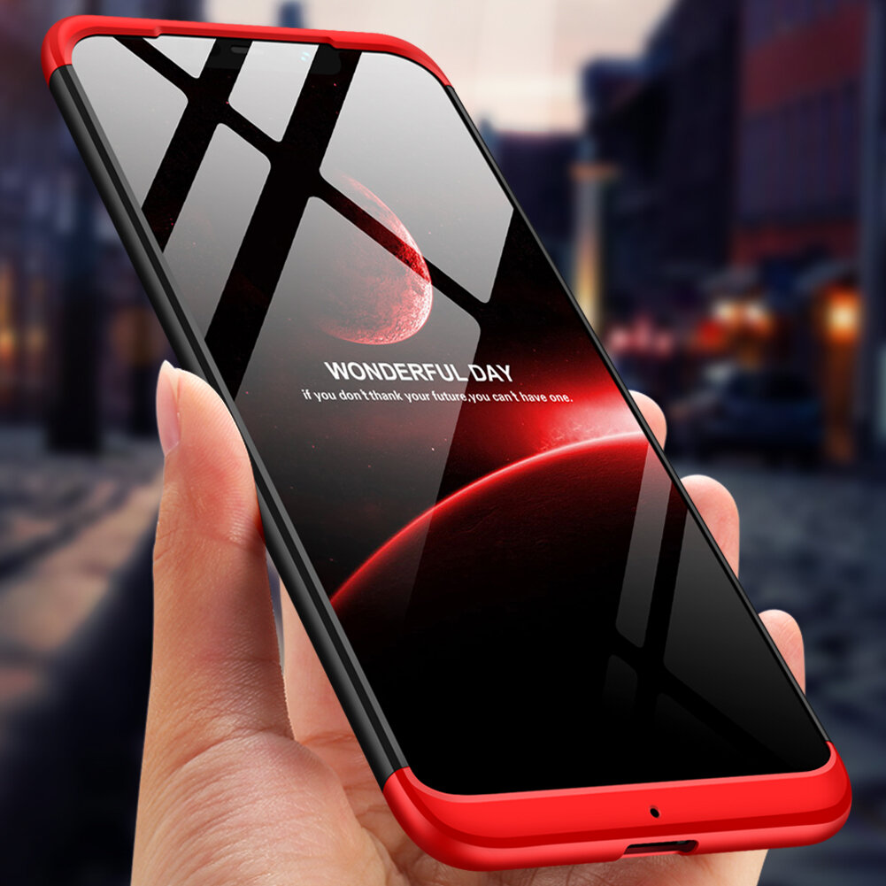 Bakeey™ 3 in 1 Double Dip 360° Full Hard PC Protective Case For Xiaomi Pocophone F1