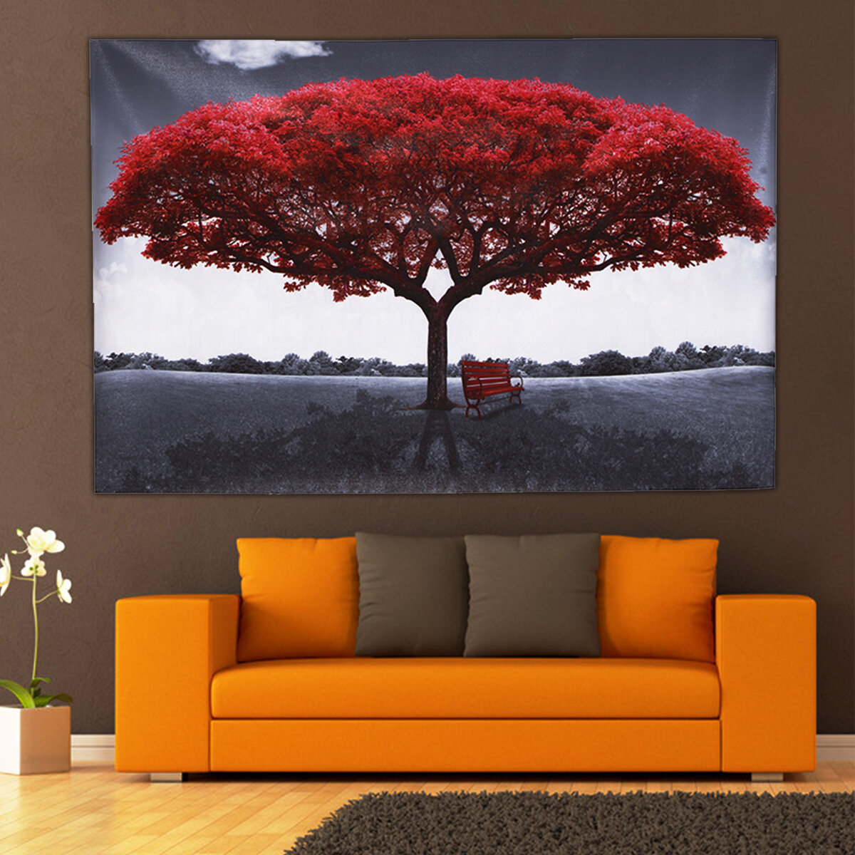 Large Red Tree Canvas Modern Home Wall Decor Art Paintings Picture Print No Frame Decorations