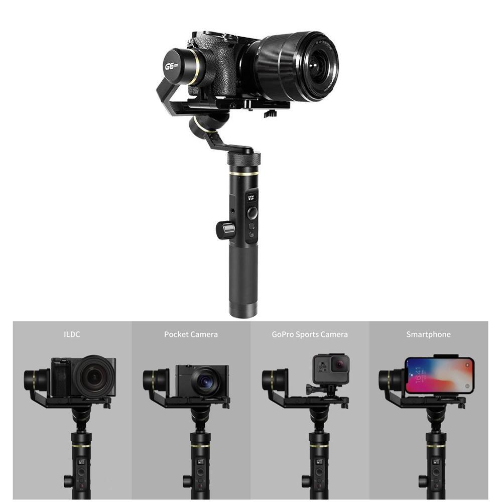 Feiyu Tech G6P G6 Plus Cardan de poche FPV stabilisé sur 3 axes pour smartphone GoPro ILDC Pocket Camera