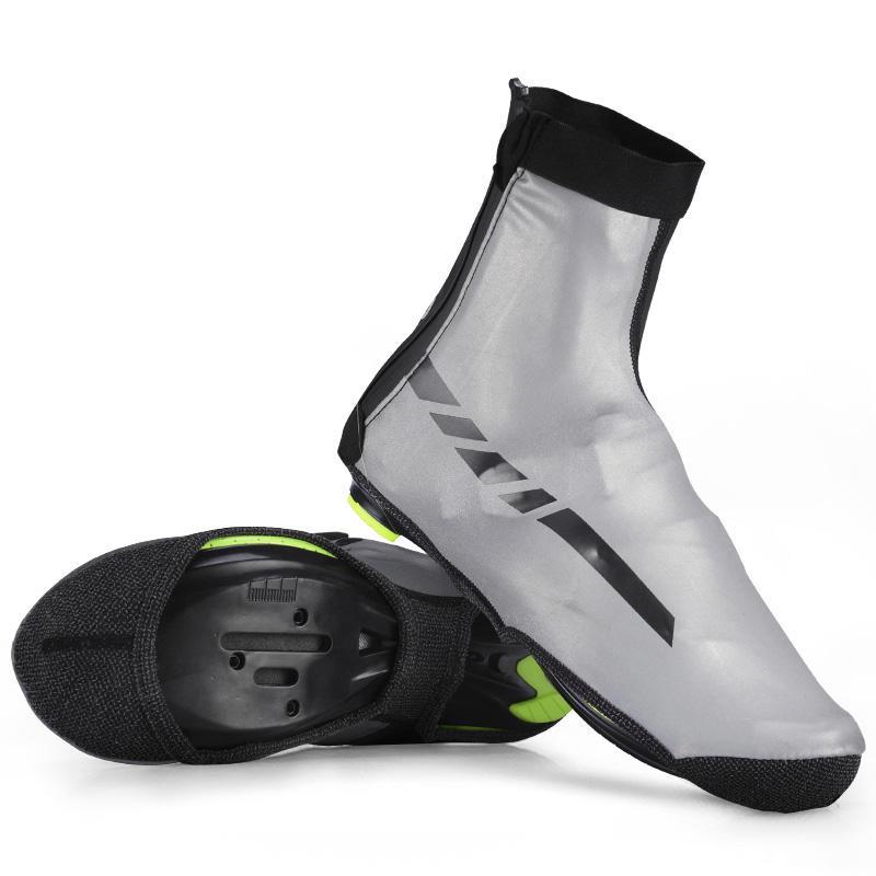 ROCKBROS Impermeable Zapatos Deportivos Cubierta Reflectante Ciclismo Bicicleta A Prueba de Viento Zapatos de Tela de Licra Cubiertas