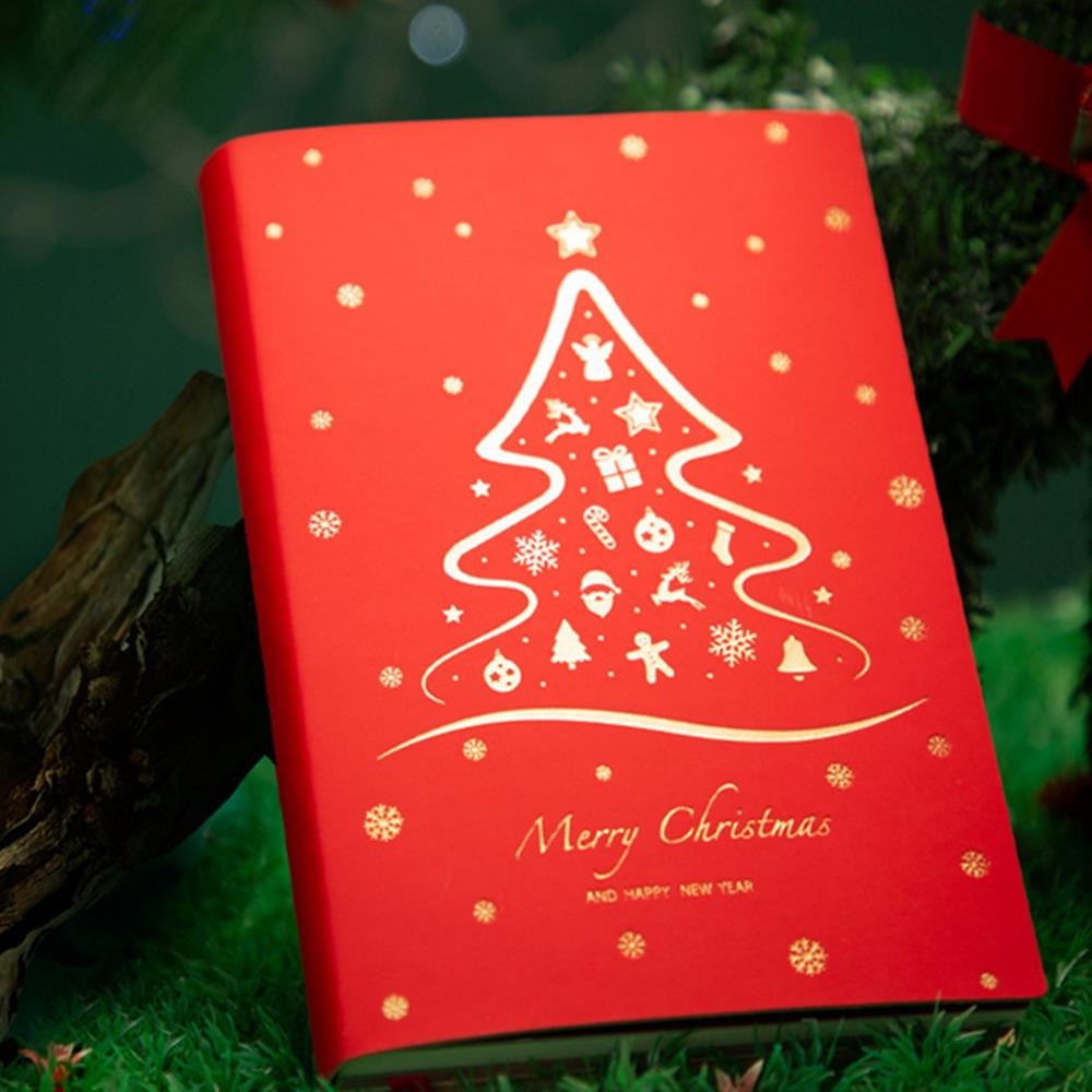 Christmas Gift Notebook Journal Hand Student Notepad Stationery Notes Thickened Books