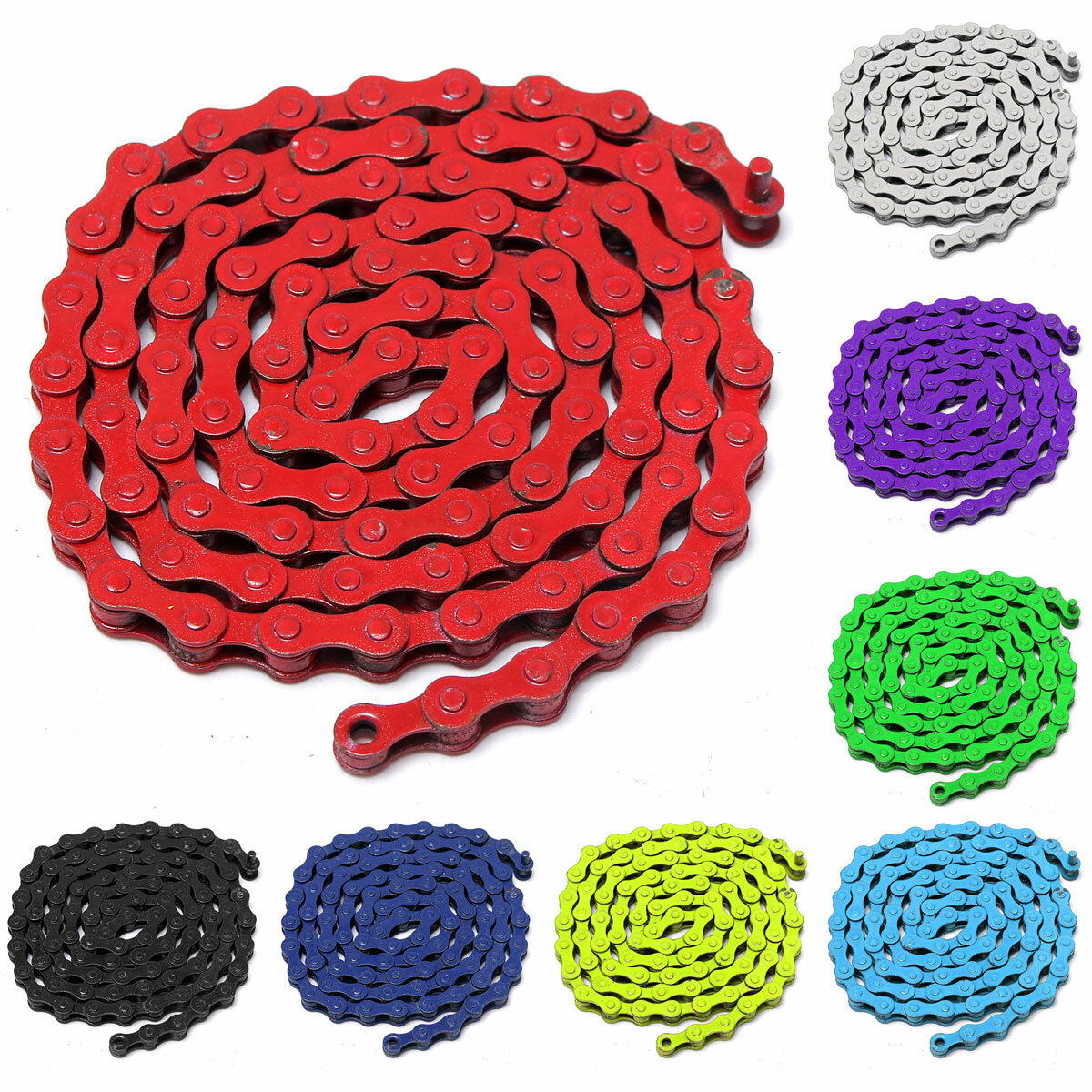 1/2 x 1/8inch 96 Links Single Speed Colorful Chain Fixed Gear MTB BMX Bicycle Bike Sport Road