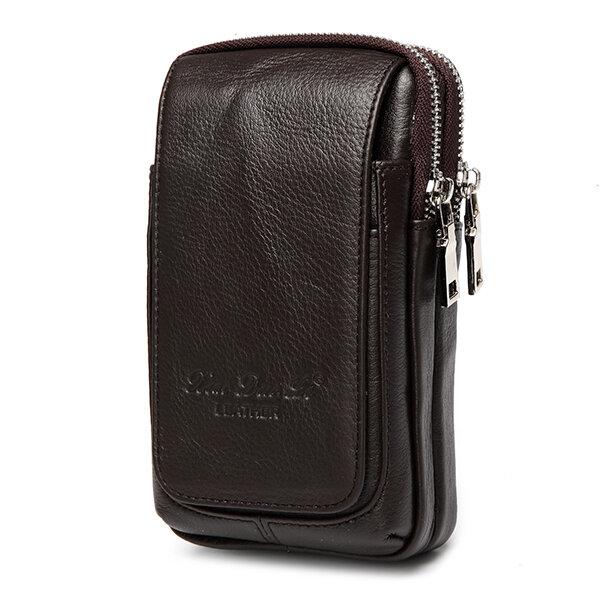 本物の革の多機能ファニーのウエストバッグベルトのポーチの電話袋の小銭入れ男性用