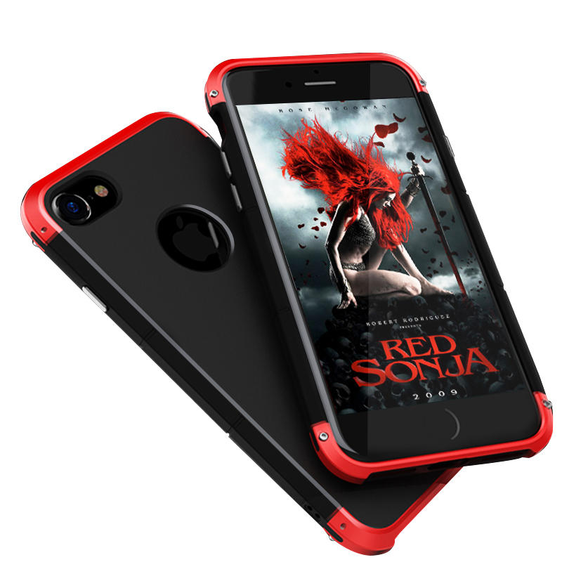 """3 i 1 Metal Bumper Frame + Hard PC Shell Case For iPhone 6/6s 4.7 """""""