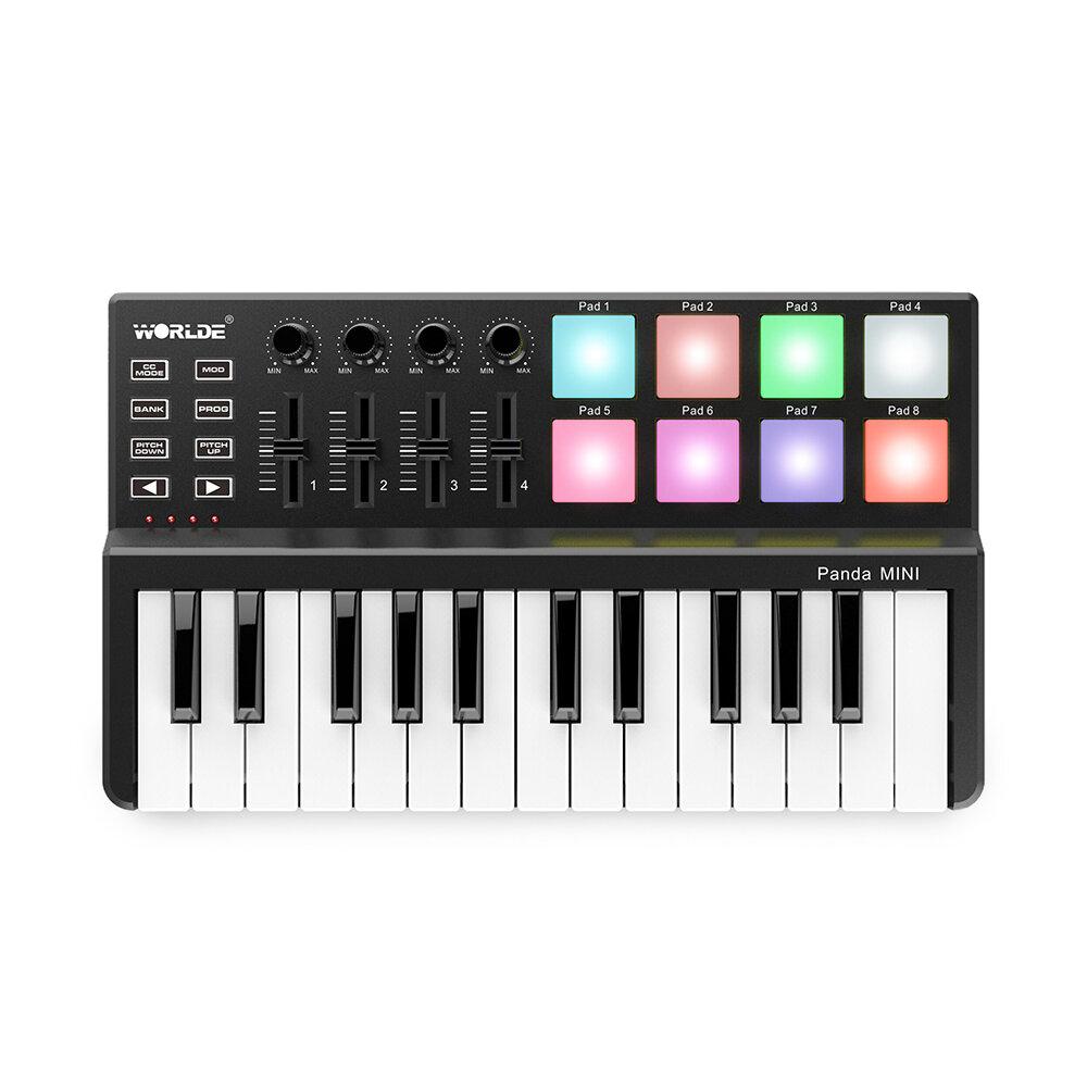 WORLDE Panda Mini Bàn phím USB 25 phím di động và Bộ điều khiển MIDI