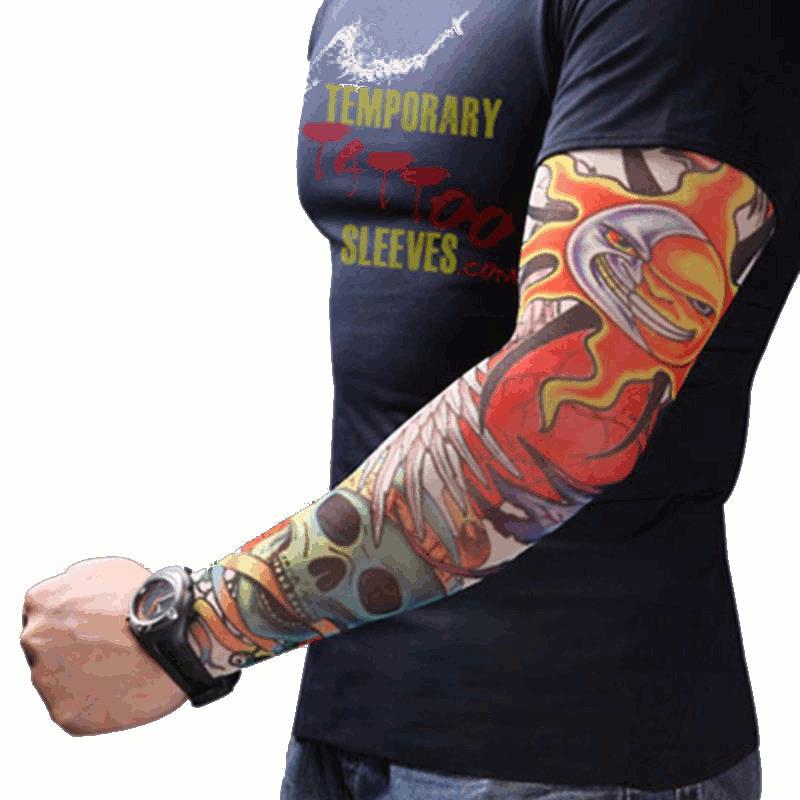 Men Women Nylon Tattoo Arm Sleeves Elastic Cool Uv Sun Protection