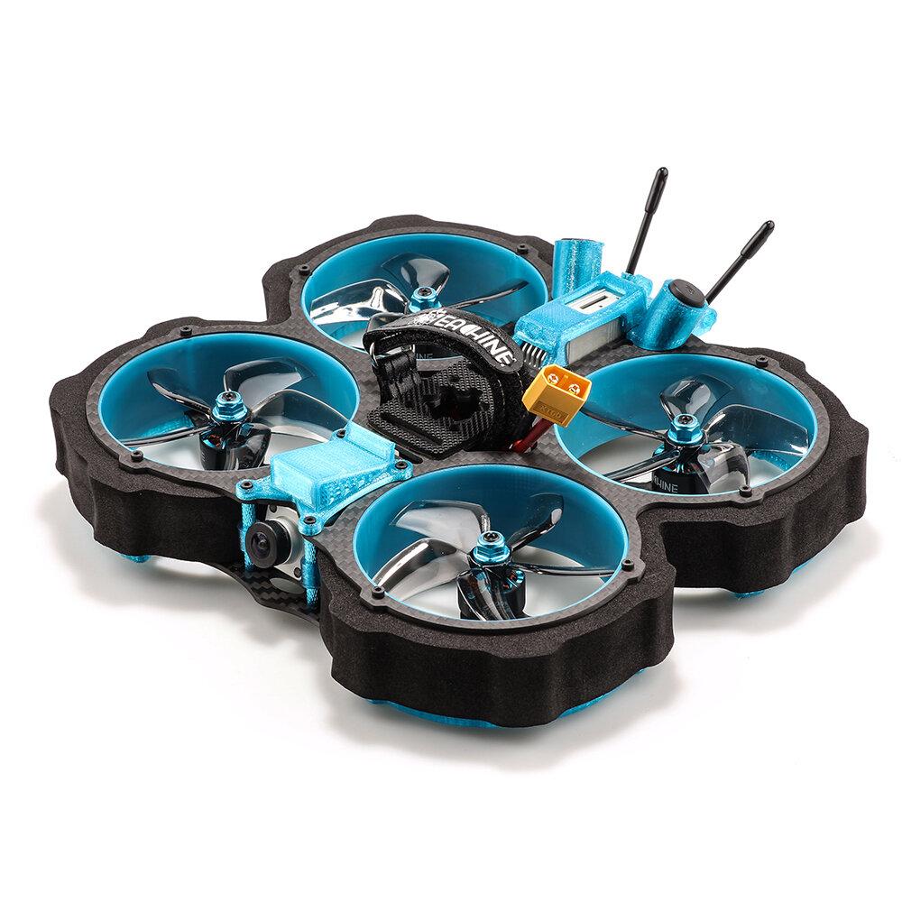 Eachine Cvatar 142mm HD 4S 3 Inch Cinewhoop Duct FPV Racing Drone BNF DJI FPV Air Unit F722 FC 1507 3600KV 35A ESC with EVA Pipeline